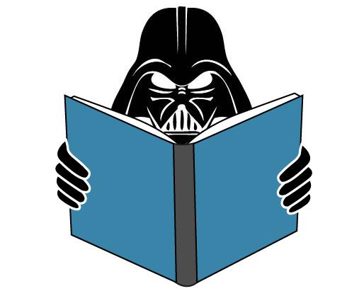 Mascote Vai Lendo versão Darth Vader Star Wars