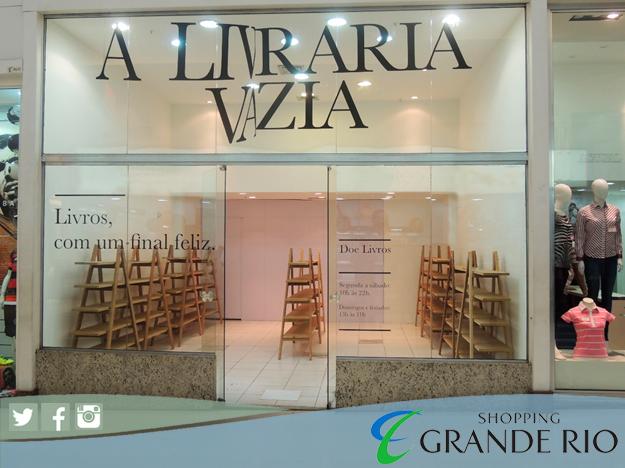 A Livraria Vazia consiste num espaço para doações de livros, que serão entregues às bibliotecas das escolas de São João de Meriti