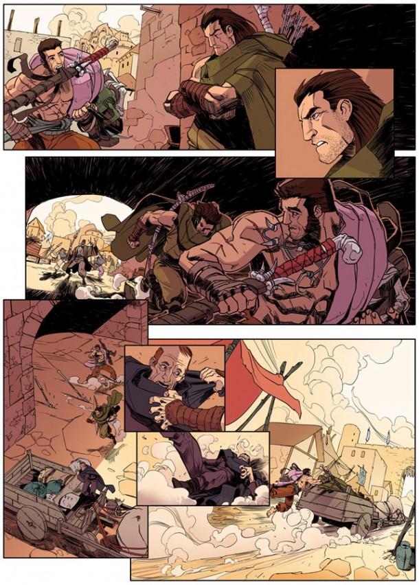 Ilustrações da HQ baseada em 'As Aventuras de Tamtul e Magano', que será lançada na Comic Con