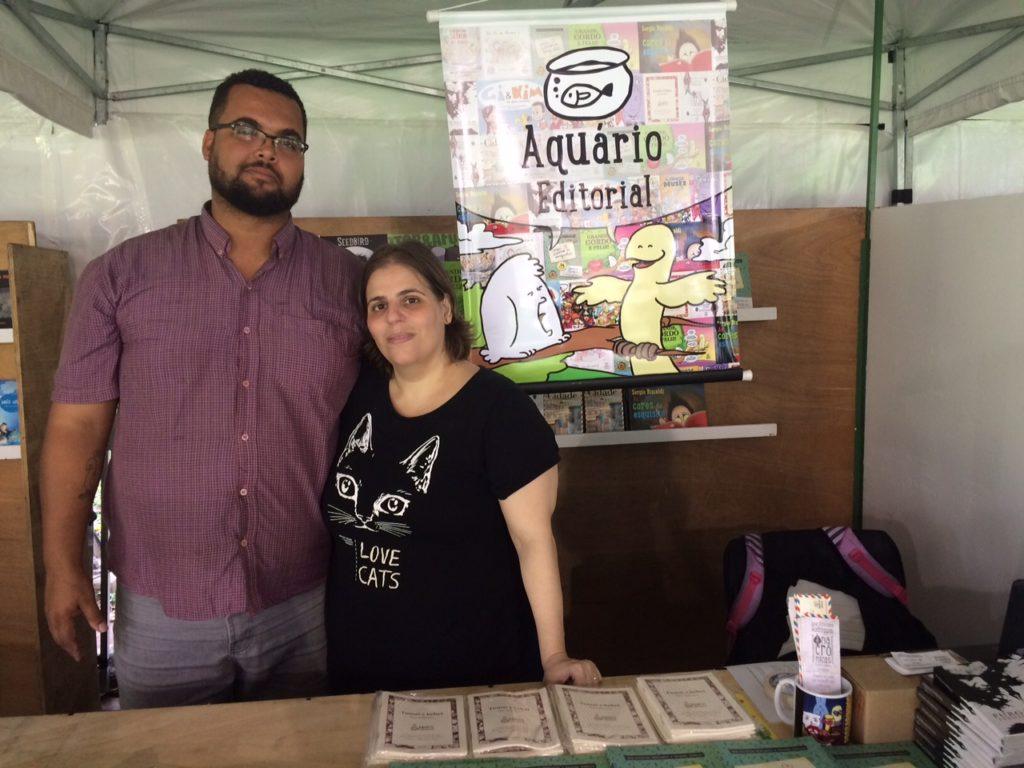 Estevão Ribeiro e Ana Cristina Rodrigues, da Aquário Editorial, esperam que a Primavera represente um recomeço/Foto: Vai Lendo